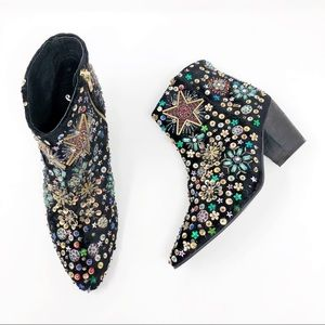 [Free People] Sequined Night Out Ankle Booties